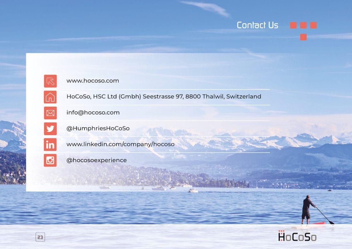 HOSPITALITY CONSULTANT Hocoso Brochure contact